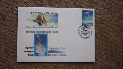 Sydney Olympic Series Test Event Cover, 2000 Fina Diving World Cup