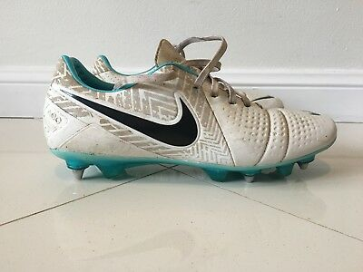 Nike CTR 360 Boots - White Blue Size 12 - Soft Ground Metal Studs