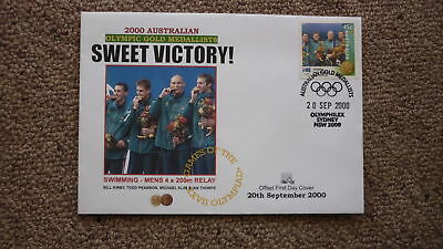 2000 Sydney Olympic Games Australian Gold Medal Win Cover, Mens Swimming