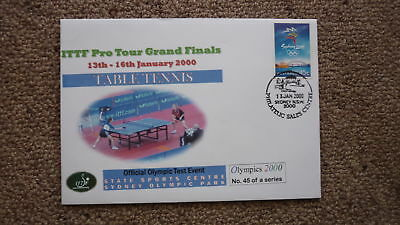 Sydney Olympic Series Test Event Cover, 2000 Ittf Table Tennis Grand Finals