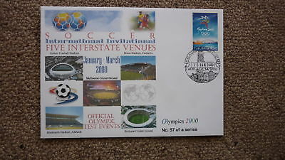 Sydney Olympic Series Test Event Cover, 2000 International Soccer Event