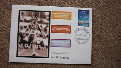 Sydney Olympic Series Test Event Cover, 2000 Aust Track & Field Championships 1