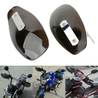 Black ABS Motorcycle Hand Guard Wind Deflector Shield For Harley Honda Yamaha