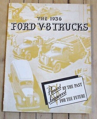 Original 1936 Ford Truck Dealer Full Line Sales Brochure 15 Pages Nice!