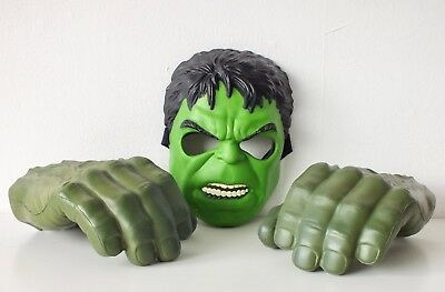 The Incredible Hulk Smash Hands and Mask - Hasbro - Great Condition