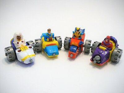 McDonalds Happy Meal Toys - Full Set of Marvel X-Men Plastic Racers