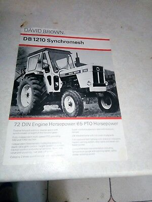 david brown 1210 synchormesh sales brochure