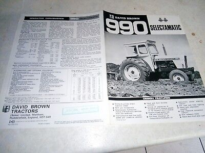 david brown 990 selectamatic sales brochure
