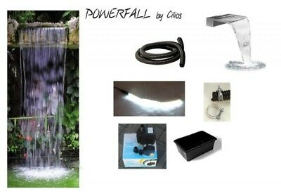 PowerFall Waterfall Kit Eco 45 cm LED Fully Wired - Drop Height up to 150cm