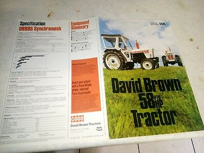david brown 995 synchromesh sales brochure