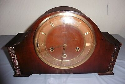 Vintage Smiths Westminster Chiming Mantle Clock ( Working , Needs Tlc )