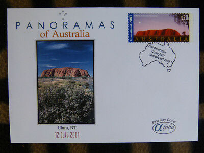 Scarce Alpha First Day Cover - 2001 Panorama Of Australia, Uluru $20 Face