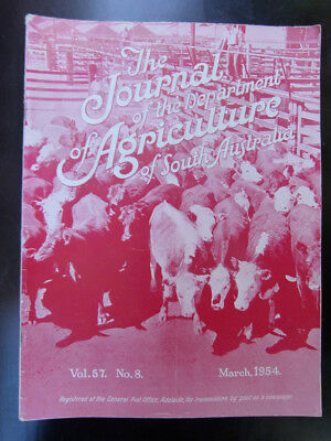 Old South Australian Agriculture Farming Journal March 1954