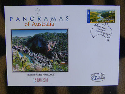 Scarce  Alpha First Day Cover - 2001 Panorama Of Australia, Murrumbidgee River