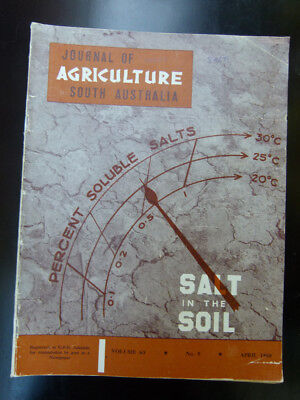 Old South Australian Agriculture Farming Journal April 1960