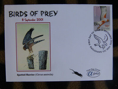 Scarce Alpha First Day Cover - 2001 Birds Of Prey, Spotted Harrier