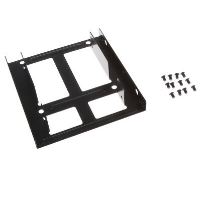"""Dual2.5"""" to 3.5""""SSD to HDD Adapter Mounting Bracket Hard Drive Holder Metal"""