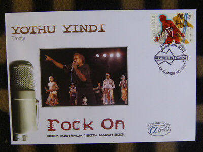 Scarce Alpha First Day Cover - 2001 Rock On, Yothu Yindi Treaty Stamp