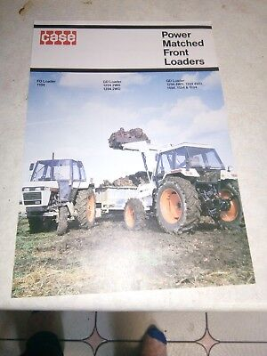 david brown  case fd / gd /qd power matched front loaders sales brochure