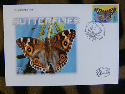 Scarce Alpha First Day Cover - 1998 Australian Butterflies, Meadow Argus