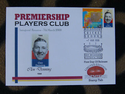 Rare Premiership Players Club 2000/ P/stamp Fdc - Clen Denning Fitzroy