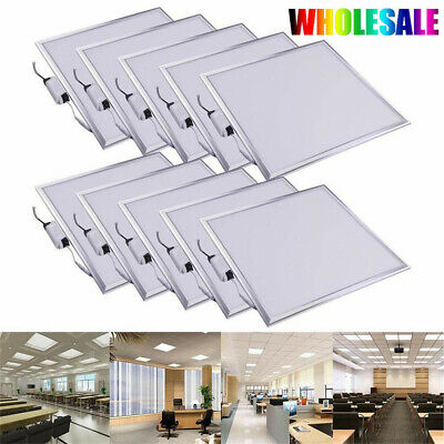 Large LED Ceiling Panel Light 48W 36W 600x600mm Suspended Kit Office Daylight
