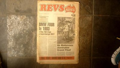 Old Australian Motorcycle Revs L/f Magazine Oct 1981 Motorcross Bmw Four