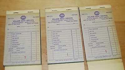 Vintage Gulf Oil Gas / Service Station Receipt Books Lot of (15)