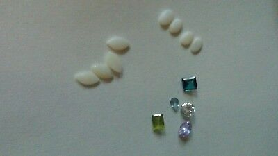 Mixed Faceted Loose Gemstone Lot Scrap 14k 10k gold jewelry removed stones