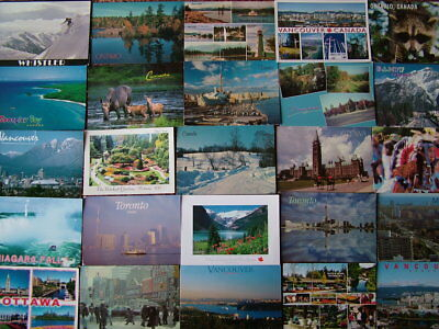 100 Larger/Oversize Postcards of CANADA.  Used & Unused.