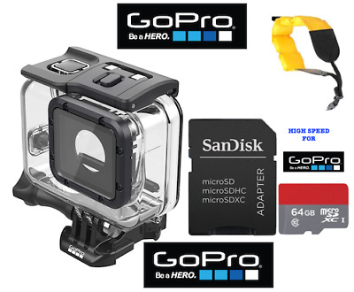 GoPro Super Suit Dive Housing for HERO5 Black #AADIV-001 + FLOATING STRAP + 64GB