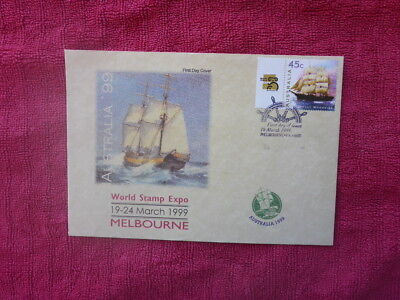 Aus '99 World Stamp Expo Polly Woodside P/stamp Fdc