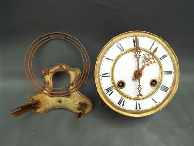 Vintage wall clock movement and chime for repair or parts