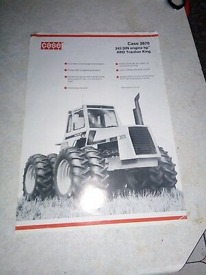 david brown  case 2670 traction king sales brochure