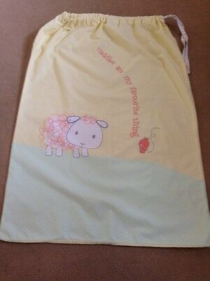 Mothercare Large Lemon Tie Top Baby Nursery Laundry Bag or toy holder