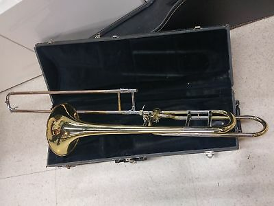 """Accent Brass Trombone 8 1/2"""" Bell w/ F Trigger Attachment Mouthpiece & Hardcase"""