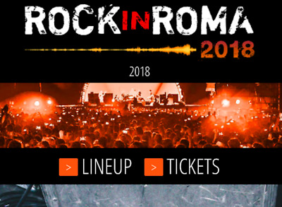 Chemical Brothers * July 19, 2018 In Rome Italy * Rock In Roma * Two Tickets *