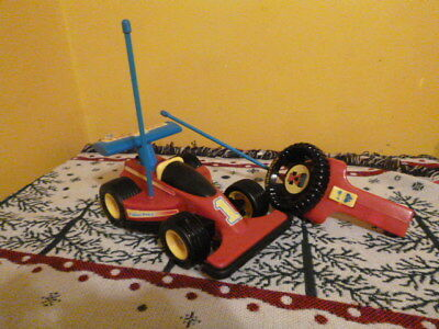 Vintage 1992 Fisher Price #1 Remote Control Race Car 2085 Red