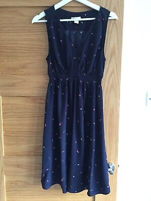 H And M Mama Maternity Dress Size S Small Summer Navy Dress