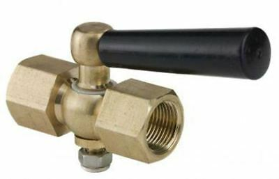 Instrument Isolation Valve for Pressure Gauges - Heavy Duty Brass Gauge Cock