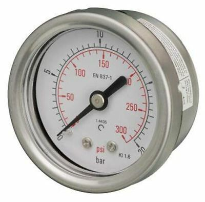 50mm Pressure Gauge - All Stainless Steel Back Entry 1.6% Acc