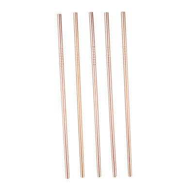 """5 PCS Straight Stainless Steel Drinking Straws Metal Straw for Tumblers 8.5"""""""