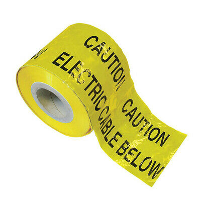 Caution Electrical Cable Below, Cable Pipes Warning Tape Electrician, Contractor