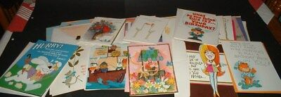 Vtg Lot of 65  Greeting Cards- Novelty /Birthday/ Get Well / Mixed ALL UNUSED