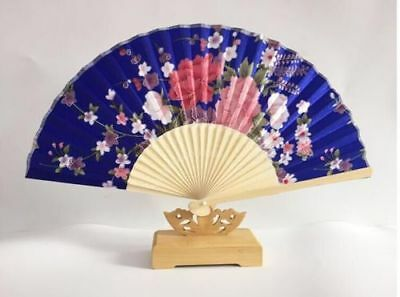 BAMBOO HAND HELD FOLDING FAN LADIES BRIDAL WEDDING PARTY Chinese FLOWER