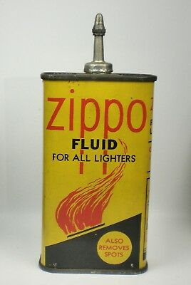 Early Vintage ZIPPO Lighter Fluid Tin ~ no reserve ~ Oiler Type Can