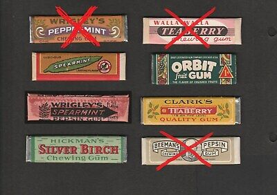 Advertising chewing GUM STICK with wrapper - 1 PIECE for US$ 34.95 - BUY IT NOW