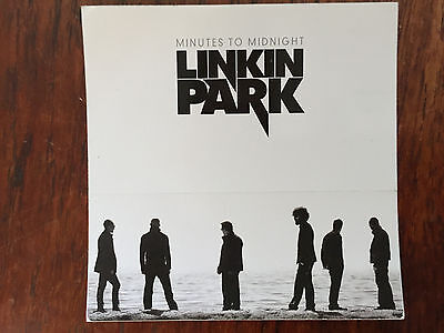 Linkin Park  promo sticker for the Minutes to Midnight  cd 2007
