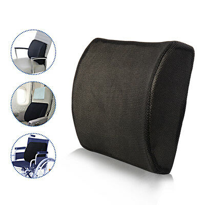 Memory Foam Lumbar Back Support Relax Cushion Pillow For Car Auto Driving Home