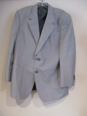 YSL Yves Saint Laurent gray pinpoint cotton blazer jacket sz 40